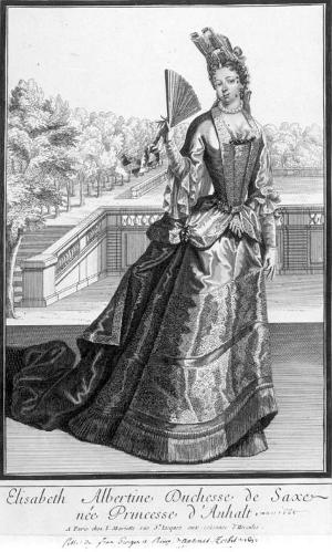 フォンタンジュ・スタイルの貴婦人