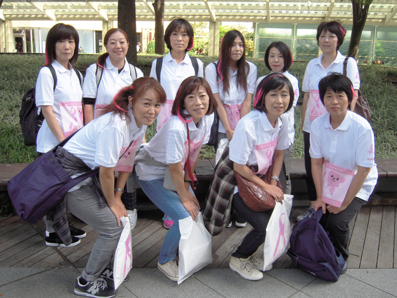Participation in Pink ribbon Smile Walk (Tokyo)