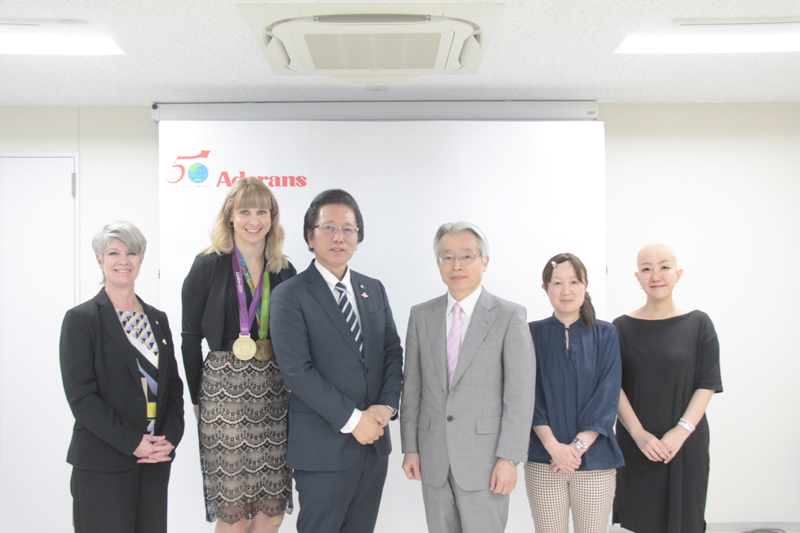 Joanna Rowsell's visit Japan Commemorative Event