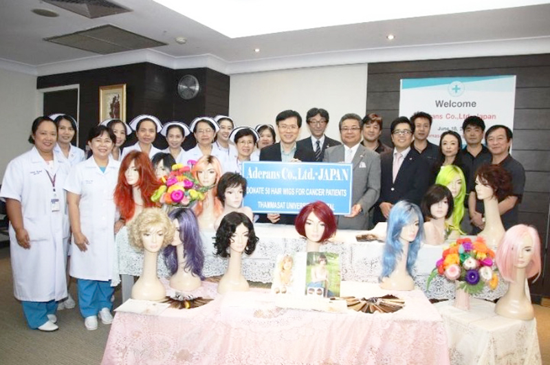 2019.06.18 Wig Donation in Thai hospitals