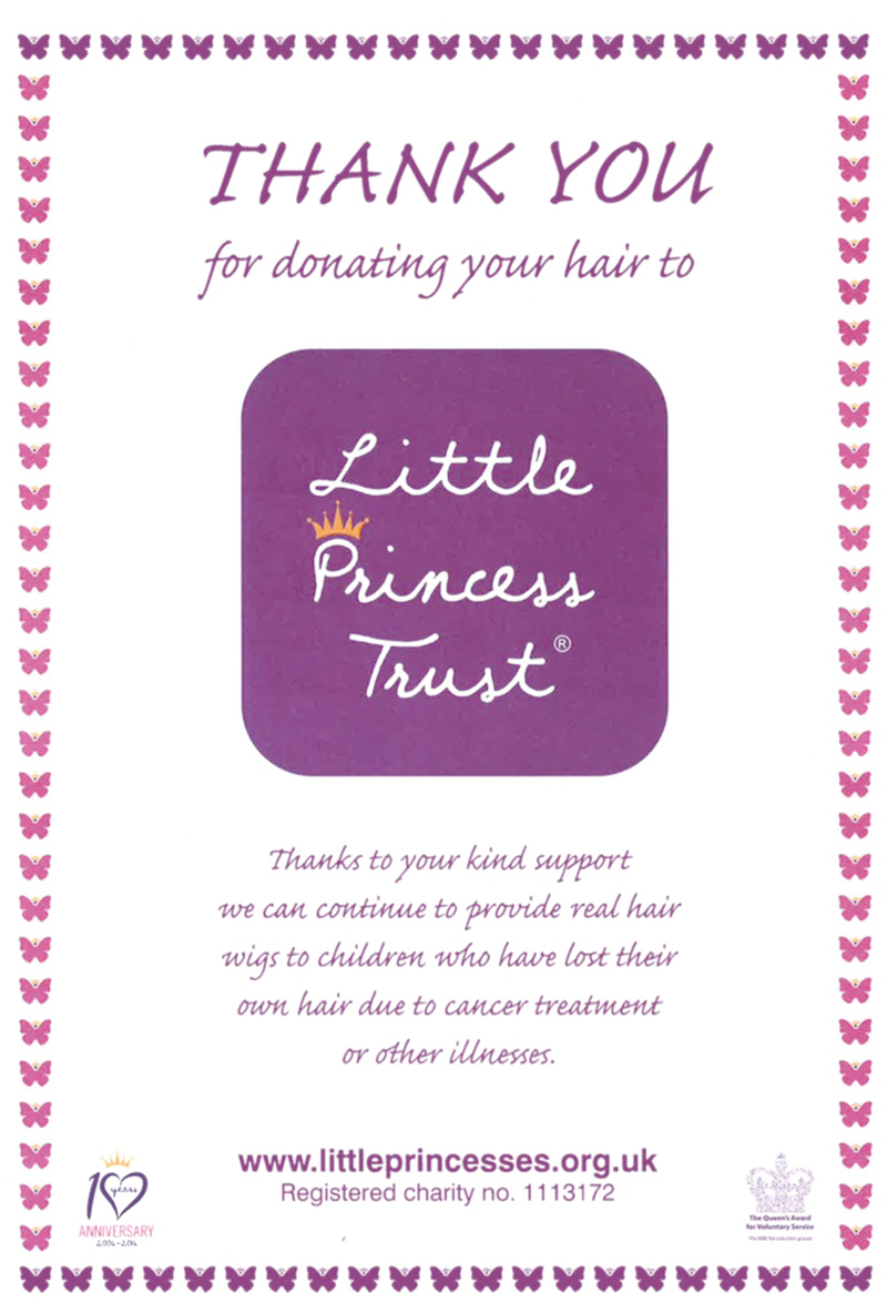 (UK)Support for The Little Princess Trust