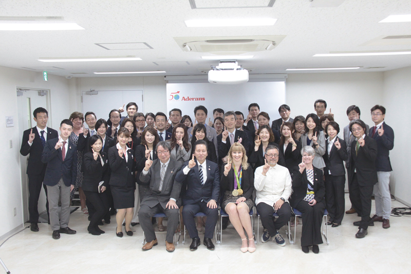 Joanna Rowsell Shand MBE visits Japan and participates in the Commemorative Event
