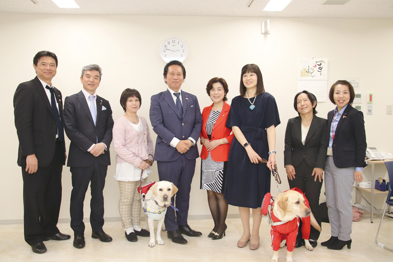 Held Blind Makeup seminar Supporting JAPAN CAREMAKE Association